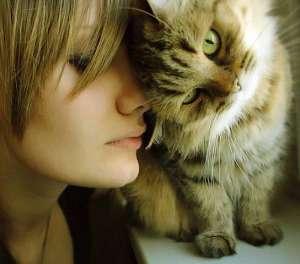 девушка-и-кошка