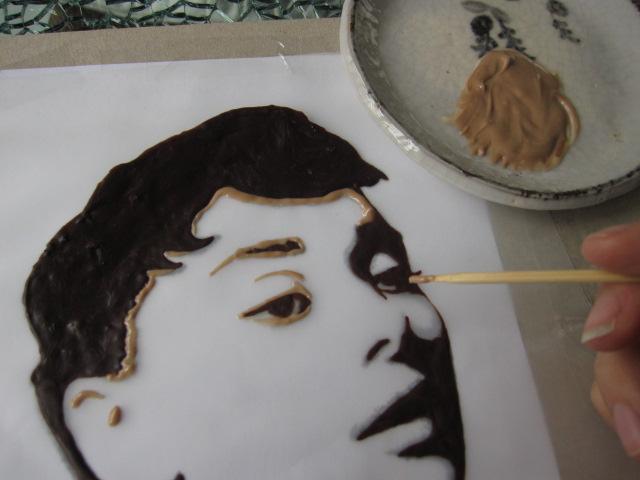Как сделать рисунок шоколадом