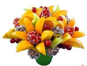фруктовые букеты в глазури